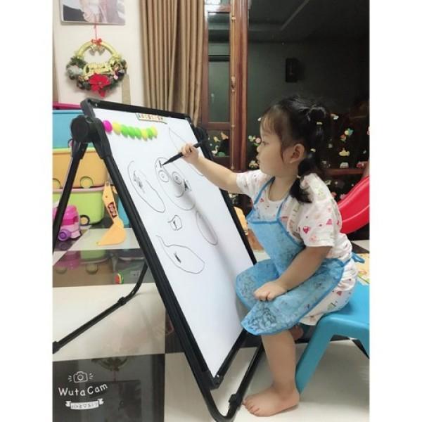 Mua Bảng viết vẽ 2 mặt chống lóa mỏi mắt cho bé trai và bé gái di động thông minh, mặt bảng xoay 360 độ