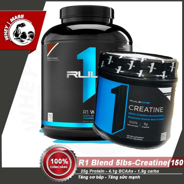 [COMBO] Tăng Cơ Bắp Tăng Sức Mạnh R1 BLEND (5lbs) - Rule1 Creatine (150 servings) - Từ Châu Âu