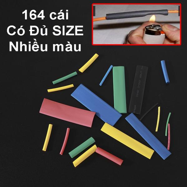 Bảng giá Bộ 164 Gen Co Nhiệt Màu, Gen nối dây điện 220V, Nối dây điện xe máy, Đủ SIZE Đủ SIZE
