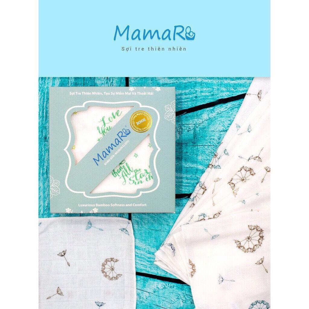 Khăn Sợi Tre - Khăn Sữa Premium MamaRu 30*30