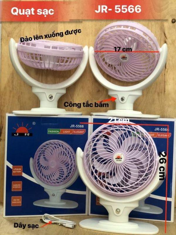 Quạt Sạc Để Bàn Tích Điện JR-5566, Quạt Mini, Quạt Nhỏ Gọn Dễ Mang Theo