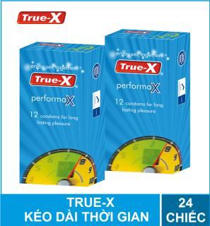 [HCM] Freeship Bộ 2 hộp Bao cao su True-X PerformaX- Extra time kéo dài thời gian hộp 12 chiếc thumbnail