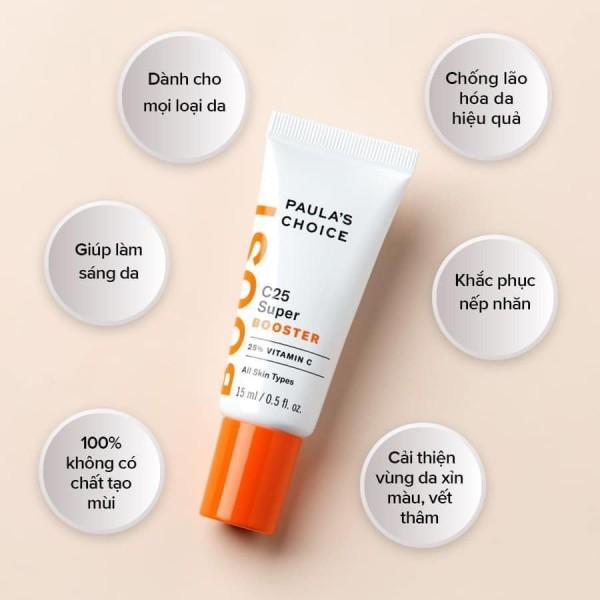 Tinh Chất Đánh Bật Vết Nám Và Đốm Nâu Chứa 25% Vitamin C PaulaS Choice C25 Super Booster