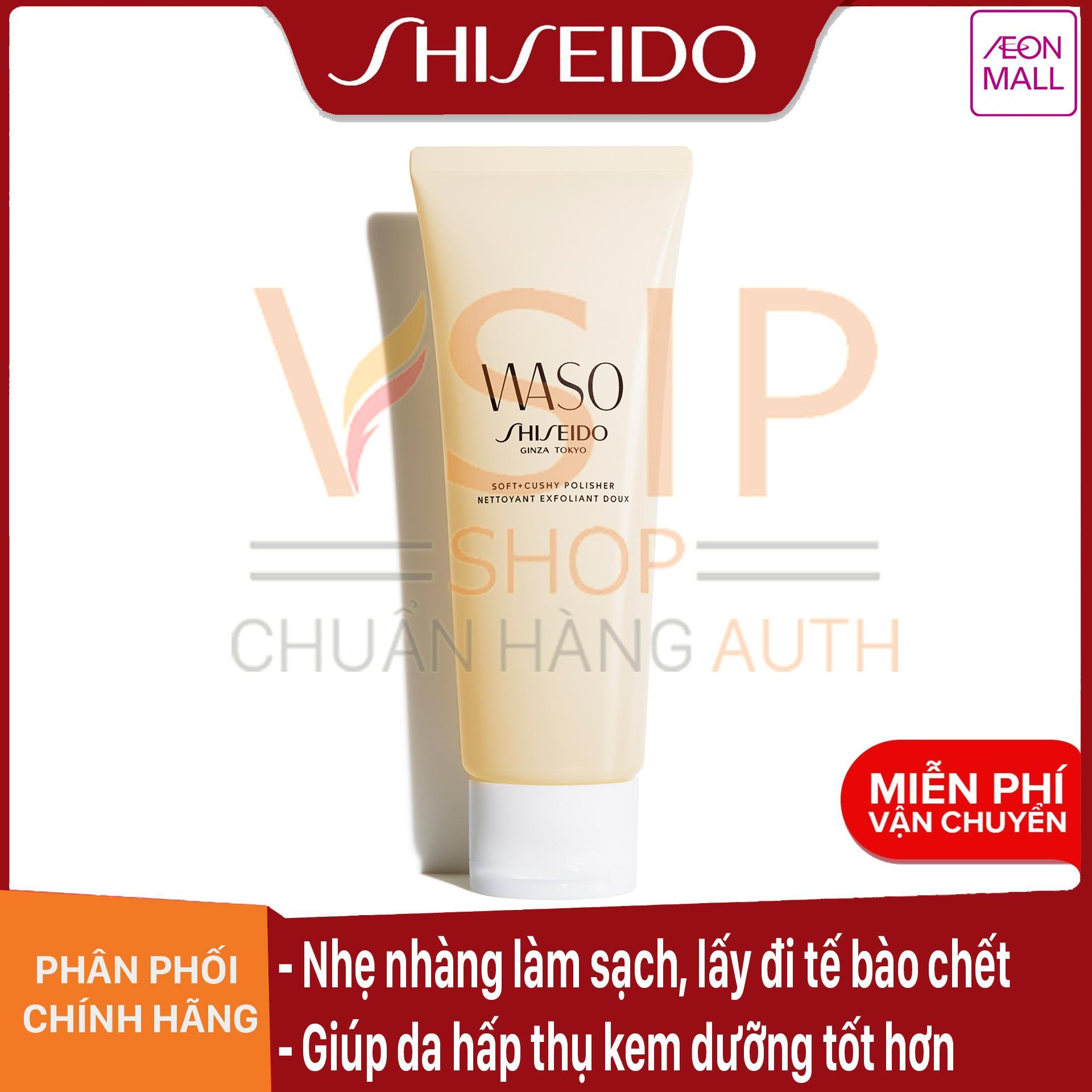 Mã Khuyến Mãi tại Lazada cho Kem Tẩy Da Chết Vật Lí Shiseido Waso Soft+Cushy Polisher 75ml