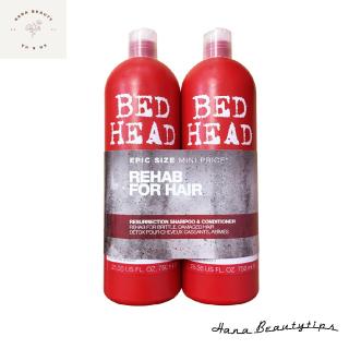 [Tigi đỏ] Bộ dầu gội và dầu xả Tigi bed head resurrection shampoo & conditioner 750ml đỏ phục hồi tóc hư tổn (LEVEL 3) thumbnail