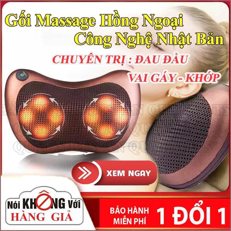 Goi Matxa Hong Ngoai Nhat Ban- Gối Massage Hồng Ngoại 8 Bi Cao Cấp, Máy Massage Khớp Gối, Goi Matxa Hong Ngoai Nhat Ban