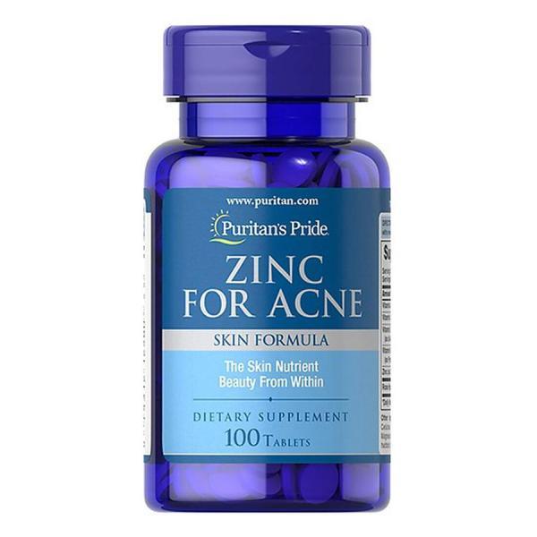 Viên uống kẽm Zinc for Acne Puritans Pride