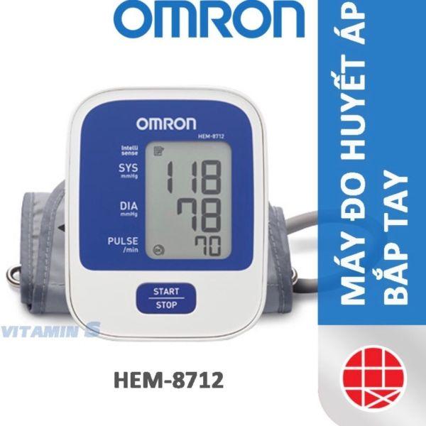Nơi bán Máy đo huyết áp bắp tay tự động tại nhà Omron HEM 8712 chính hãng bảo hành 5 năm