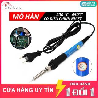 [Rẻ Vô Địch] Mỏ hàn thiếc có điều chỉnh nhiệt độ 60W 220V 936 giá rẻ, Mỏ hàn điện tử mini tiện dụng, Mỏ hàn chì cao cấp cóđiều chỉnh nhiệt độ thumbnail