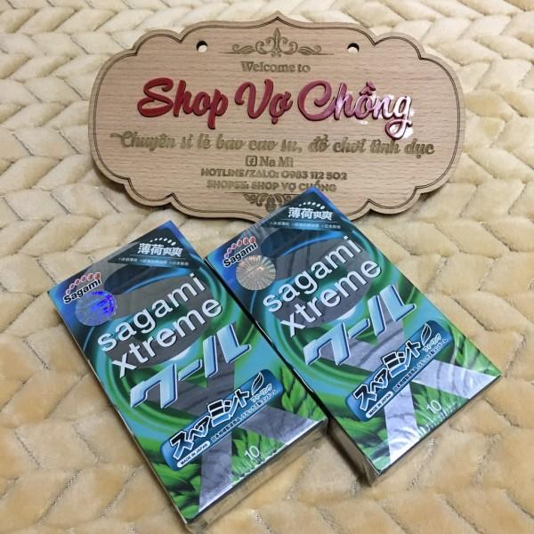 Combo 2 hộp bao cao su Sagami Xtreme Spearmint hương bạc hà, sản phẩm cam kết đúng như mô tả, chất lượng đảm bảo, an toàn sức khỏe người dùng nhập khẩu