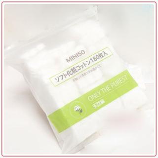 Bông tẩy trang miniso 180 miếng bông tẩy trang 3 lớp dùng tẩy trang và dùng làm lotion mask thumbnail