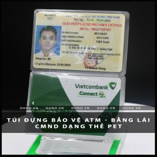 BAO đựng CAO cấp SU hào chống trầy xước thẻ căn cước CMND , ATM, Bằng lái xe , Thẻ sinh viên, nhân viên dạng thẻ PET 1