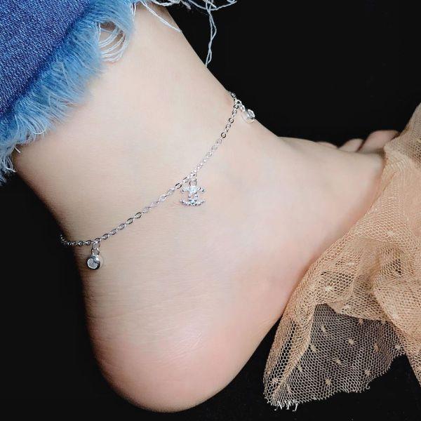 lắc chân bạc thật cực xinh cho nữ