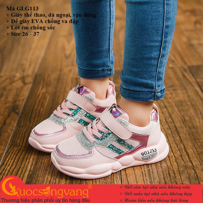 Giày thể thao bé gái giày bé gái kiểu thể thao GLG113