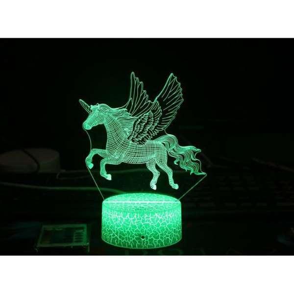 Đèn ngủ 3d thiên mã, pegasus, đèn led, đè phòng ngủ, quà tặng sinh bgaatj, noel, lễ tết,  hình 3 d