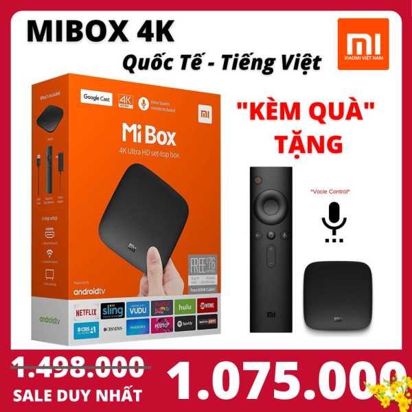 Bảng giá 【FLASH SALE DEAL SỐC】[QUỐC TẾ - TIẾNG VIỆT] Android Tivi Box Xiaomi Mibox 4K Bản Quốc Tế Tiếng Việt tìm kiếm giọng nói