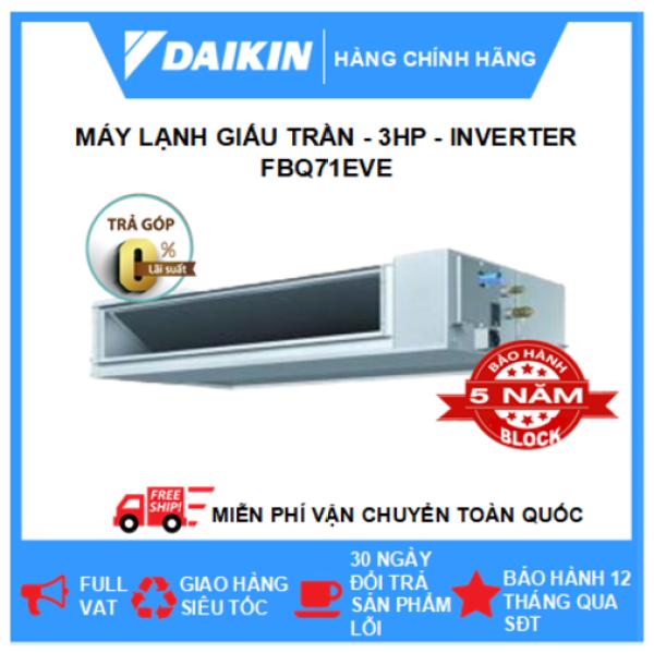 Máy Lạnh Giấu Trần Nối Ống Gió FBQ71EVE/RZR71MVMV – 2.5hp – Daikin 24000btu – Inverter – Môi chất lạnh R410 ( Remote Không Dây) - Điều hòa chính hãng - Điện máy SAPHO