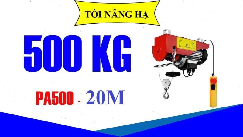 MÁY TỜI ĐIỆN PA500 CÁP 20M - MÁY TỜI ĐIỆN 500KG, MÁY NÂNG HẠ 500KG