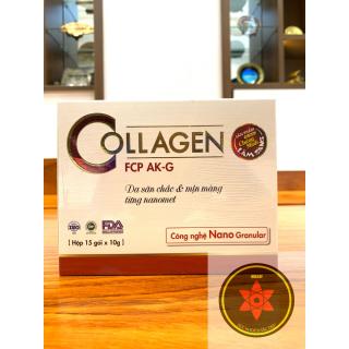 Bột uống Collagen FCP AK-G hỗ trợ làm tăng tính đàn hồi cho da, giúp giảm nám, sạm, tàn nhang và cung cấp dưỡng chất chống lão hóa da an toàn và hiệu quả. thumbnail