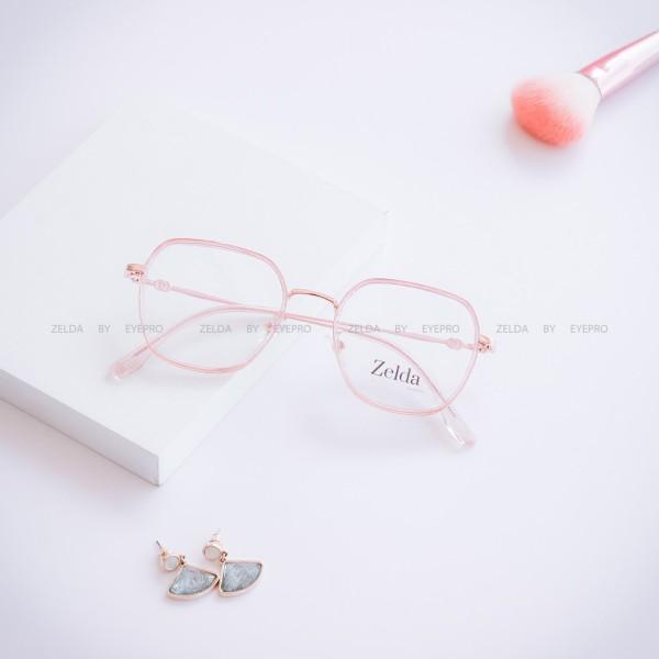 Giá bán [LẮP SẴN CẬN]Gọng kính cận nữ, gọng cận nhựa dẻo cốt kim loại, mắt kính vuông Z0571G