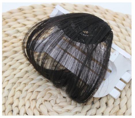 Tóc Giả Mái Thưa (3 màu) có mai thẳng (ĐEN) nhập khẩu