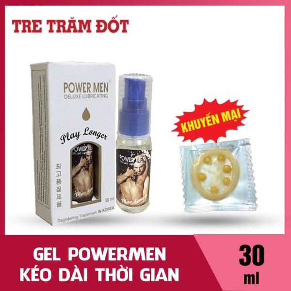 Gel bôi trơn kéo dài thời gian chống xuất tinh sớm tặng Powermen 30ml tặng hộp bao cao su 6 bi tăng khoái cảm (TTĐ XỊT )). Gel bôi trơn âm đạo, gel bôi trơn tinh trùng
