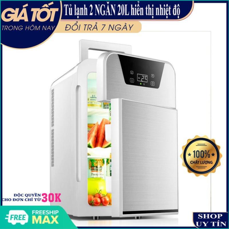 [ HÀNG MỚI BẢO HÀNG 6 THÁNG ] Tủ lạnh 20L- Tủ lạnh mini- Tủ lạnh 20L hiển thị nhiệt độ, 2 ngăn- Tủ lạnh 2 ngăn- 2 chiều nóng lạnh, nguồn vào 12v/220v- Tủ lạnh mini cho xe hơi và gia đình