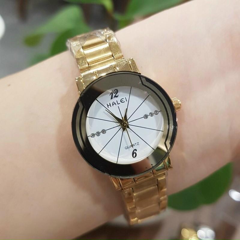 [Ở ĐÂU RẺ HƠN SHOP HOÀN TIỀN] Đồng hồ nữ HALEI siêu hot, dây thép không gỉ cao cấp, kính chống xước, bảo hành 12 tháng