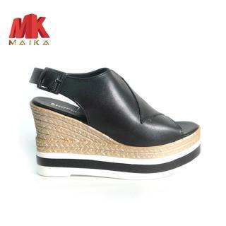 Giày đế xuồng nữ Hàn Quốc MK MAIKA cao 10 phân S1075 Đen bền, đẹp, thời trang