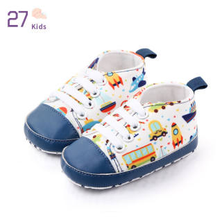 Giày Vải Cho Trẻ Em 27Kids, Đế Mềm In Họa Tiết Cho Trẻ Mới Biết Đi Từ 0-1 Y - INTL