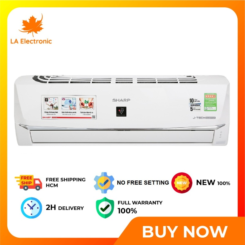 Bảng giá Trả Góp 0% - Máy lạnh Sharp Wifi Inverter 1 HP AH-XP10WHW - Bảo hành 12 tháng - Miễn phí vận chuyển HCM