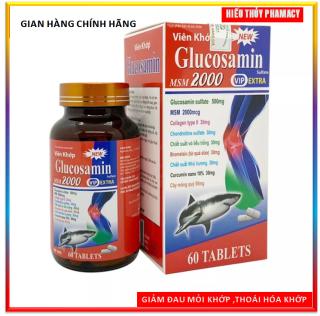 Viên uống bổ xương khớp Glucosamin MSM 2000 giảm đau nhức mỏi xương khớp, giảm thoái hóa khớp - Chai 60 viên thumbnail