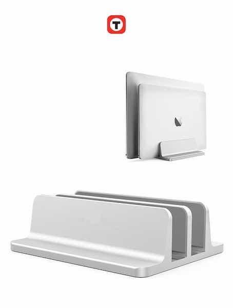 Bảng giá Chân đế kẹp giữ Macbook hợp kim nhôm đúc dạng kép Techroom, bề mặt cong 3D, ba mặt lót Silicon chống trầy xước Phong Vũ