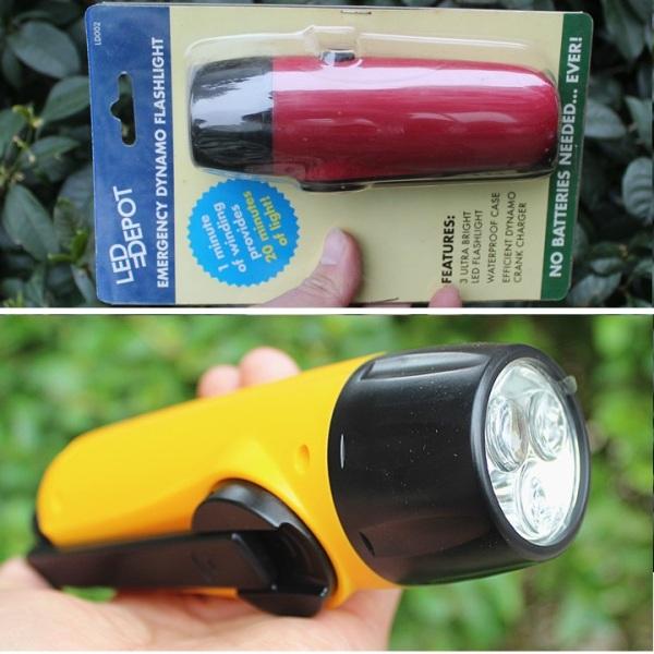 Đèn pin Dynamo - Không bao gồm pin