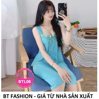 Đồ Bộ Mặc Nhà Vải Thun Lạnh Mền Mại, Mát - BT Fashion (LẠNH - LỮNG Ren) + Hình, Video Thật ĐN05 thumbnail