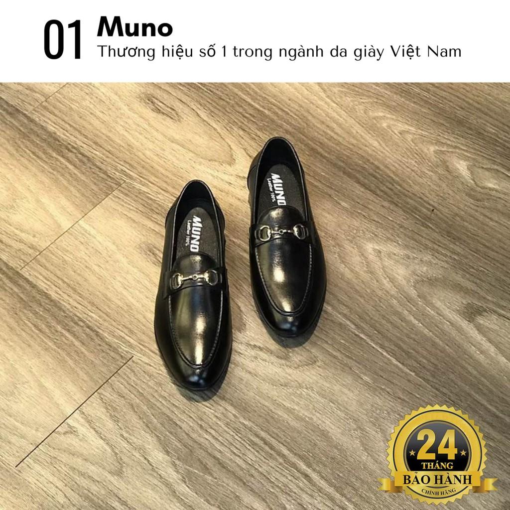 Giày lười nam Loafer Muno (05)  cao cấp cổ thấp bóng không dây thời trang giá rẻ màu đen nhiều size