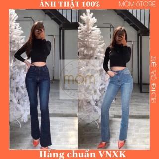 Quần Jeans Ống Loe Lai Cắt - Quần Bò Loe Xuất Xịn thumbnail