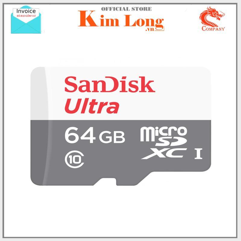 Thẻ nhớ 64Gb Micro SDHC Ultra C10 80 Mb/s SanDisk  - Diệp khánh phân phối