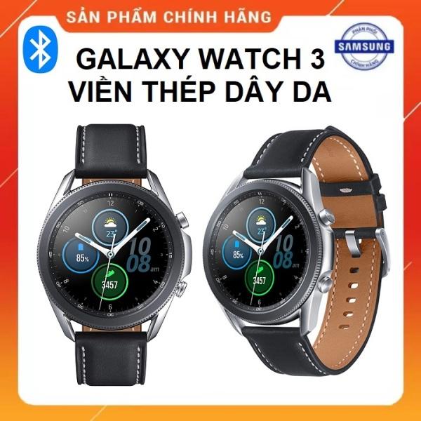 [Trả góp 0%](BẢO HÀNH 12 THÁNG CHÍNH HÃNG SSVN) - Đồng Hồ Thông Minh Samsung Galaxy Watch 3 41mm và 45mm viền thép dây da bản GPS Bluetooth Full Box Nguyên Seal - PhuKienCucCu