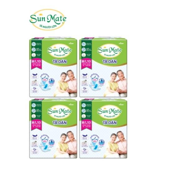 Combo 4 gói Tã dán Sunmate size ML10 giá rẻ