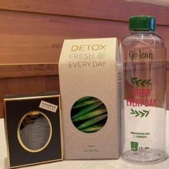 bộ trà giảm cân go detox mẫu mới tặng detox