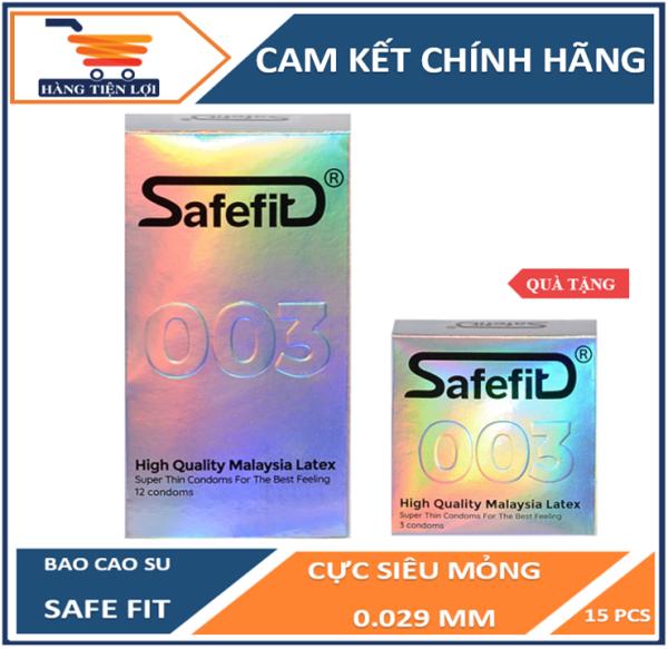 Bao cao su cực siêu mỏng Safefit 0.029mm - 12 chiếc
