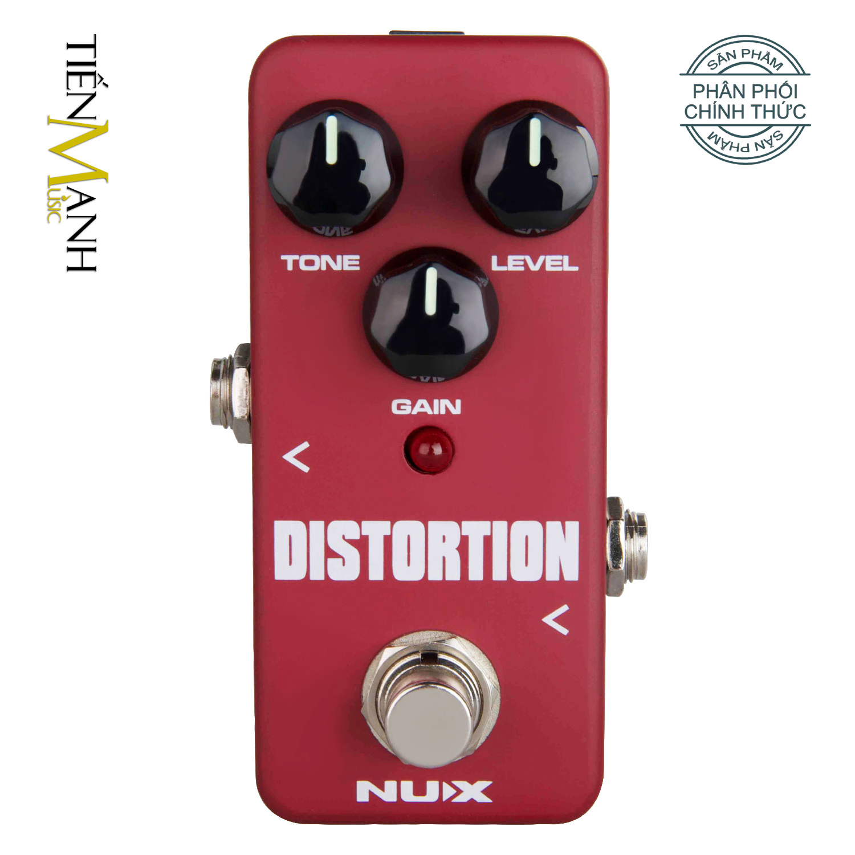 Phơ Guitar Nux Distortion Mini Pedal FDS-2 - FDS2 Distortion Guitar Pedal Mini Effect (Bộ xử lý âm thanh phá tiếng, làm méo tiếng, gầm gào phổ biến cho Guitar và Bass với ba nút điều chỉnh).