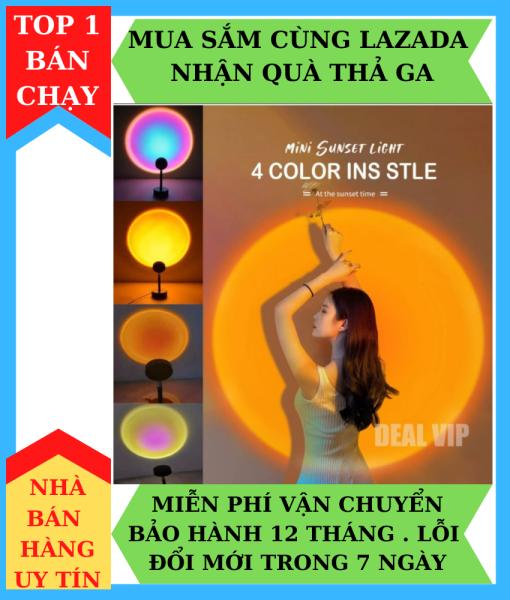 Đèn Hoàng Hôn, Sunset, TIKTOK Tích Hợp 4 Màu Và Loại 16 Màu ( Có Điều Khiển )  Trong 1 Đèn chiếu cầu vồng trang trí, chụp hình, quay TikTok hot trend tích kiệm chi phí, ánh sáng lớn