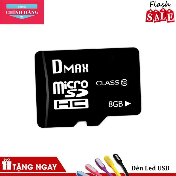 Thẻ nhớ 8GB micro SDHC Dmax Class 10 tặng Cáp micro USB tròn Romoss