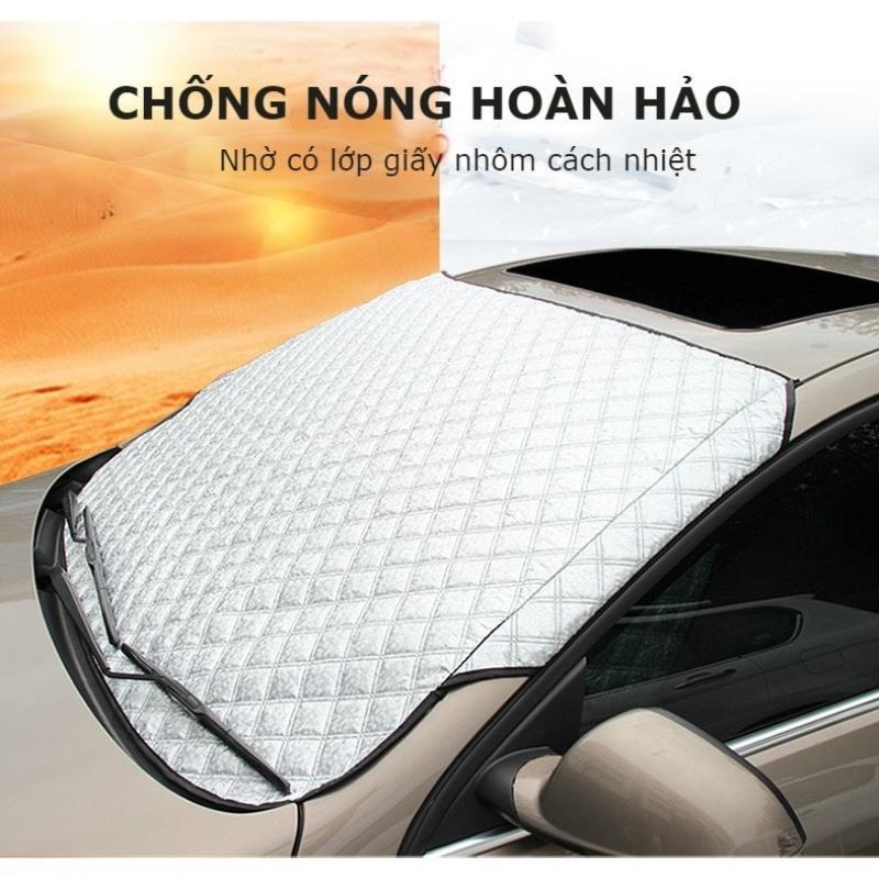 Bạt che nắng kính lái, tấm che kính lái cho xe ô tô loại dày phản quang 3 lớp, cách nhiệt tốt, bảo vệ kính lái toàn diện dùng cho xe 5 chỗ và 7 chỗ