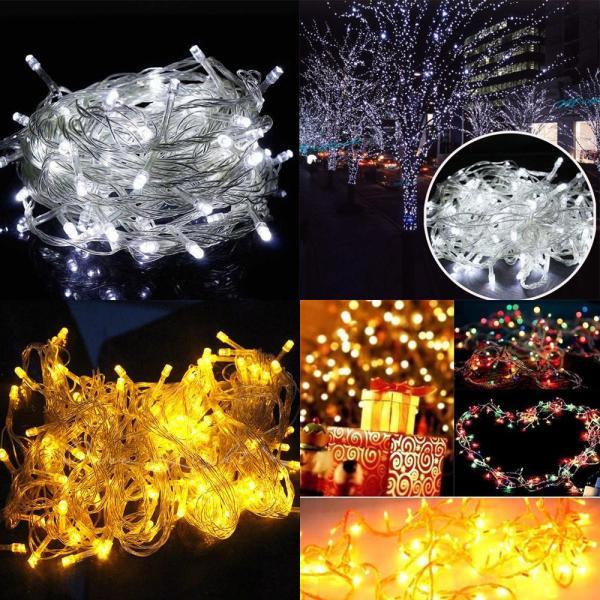 Đèn led nháy màu trắng trang trí sinh nhật sự kiện ngày lễ dài 5 mét - Diệp Linh
