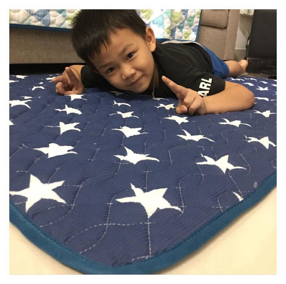 Thảm ngủ điều hòa - Thảm lưới thấm hút mồ hôi tốt , thảm chần gòn 3 lớp size 1*1.8m( thảm chất lượng xuất nhật )