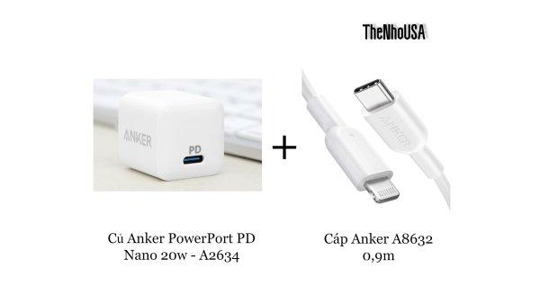 Củ sạc Anker PowerPort PD Nano 20w - A2634 [BH 12T]