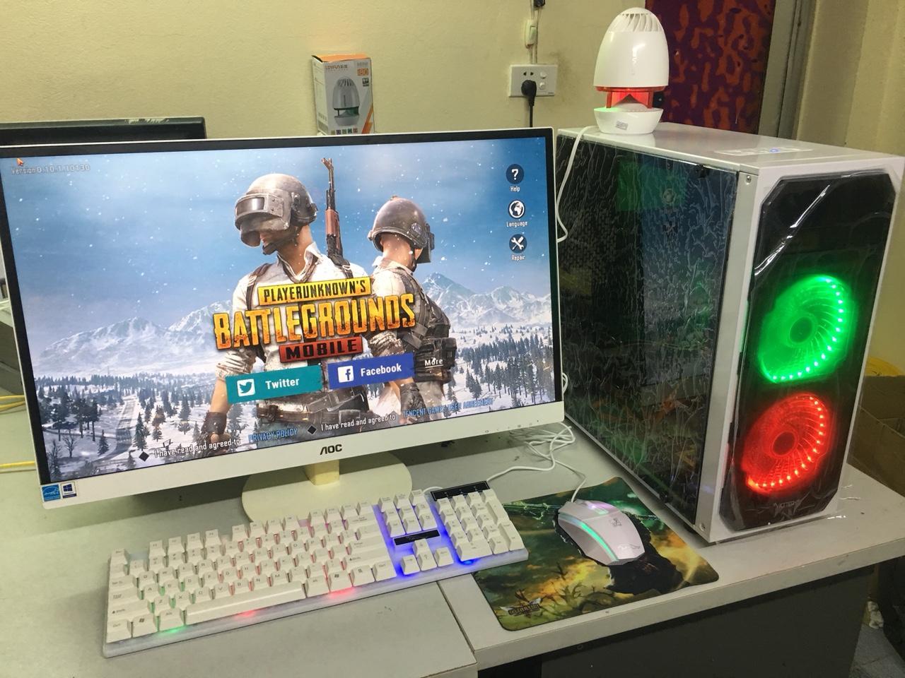 Bộ máy tính chơi Game PUBG PC VIP core i3, MÀN HÌNH 27 inch Full HD (Đầy đủ CPU, Màn hình, bàn phím, chuột led giả cơ, USB wifi tự động kết nối mạng
